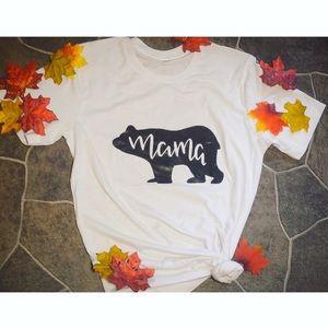 Custom Mama Bear Shirt with Vinyl